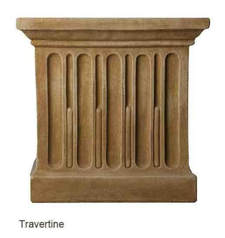 Image of Campania International Savoy Planter with Pedestal Kendall and Everett