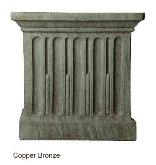 Campania International Savoy Planter with Pedestal Kendall and Everett