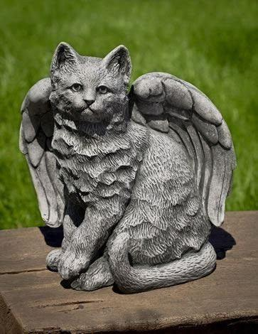 Image of Campania International Angel Kitty Garden Statue Kendall and Everett