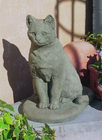 Image of Campania International Garden Cat Statue Kendall and Everett