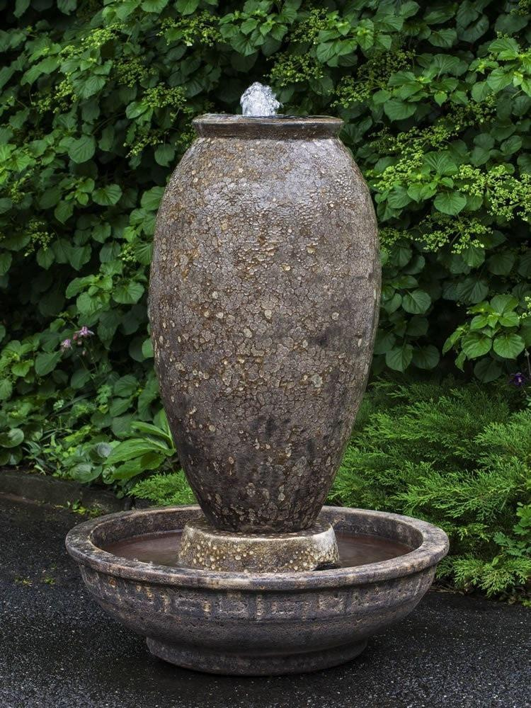 Campania International Thassos Fountain in Angkor Brown Kendall and Everett