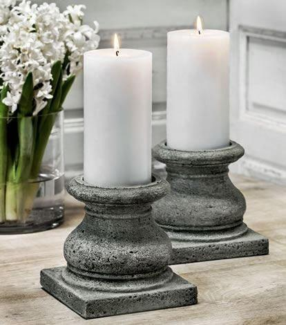 Campania International Roman Pillar Candleholder Set of 4 The Garden Gates