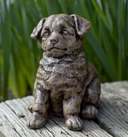 Image of Campania International Chip Puppy Garden Statue Kendall and Everett
