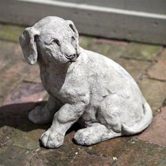 Image of Campania International Lab Pup Garden Statue Kendall and Everett