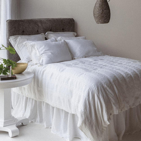 Image of Bella Notte Linens Linen Dust Ruffle Quick Ship Kendall and Everett