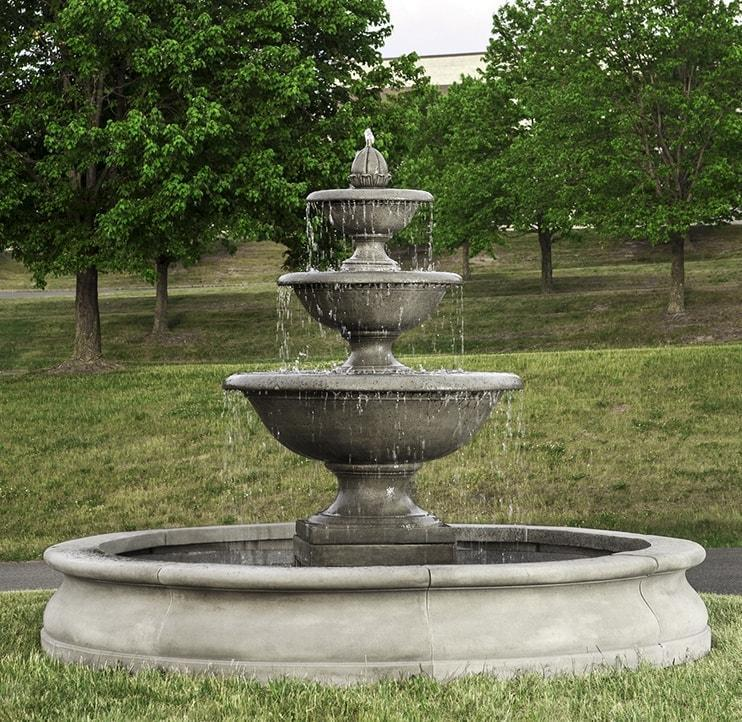 Campania International Monteros Fountain in Basin Kendall and Everett