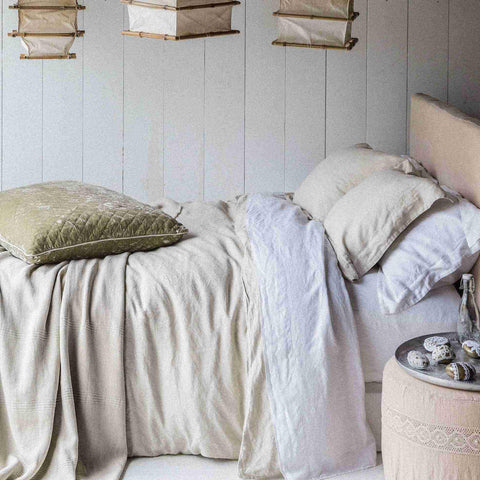 Image of Bella Notte Linens Linen Flat Sheets Kendall and Everett