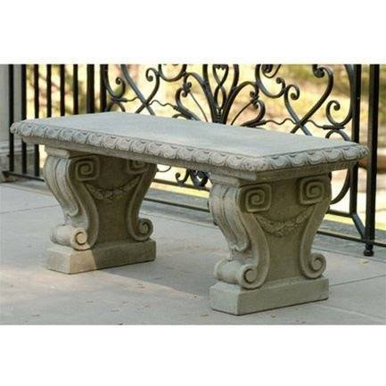Campania International Longwood Main Fountain Garden Bench Kendall and Everett