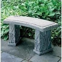 Garden Bench - Dragonfly Curved Bench By Campania International