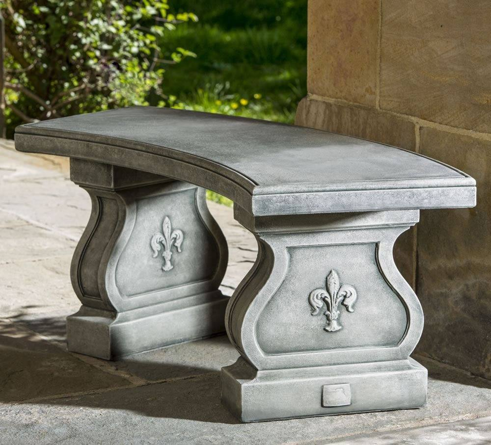 Campania International Fleur De Lys Curved Bench Kendall and Everett