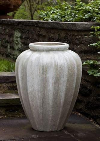 Campania International Edo Jar in Antique Pearl Glaze Kendall and Everett