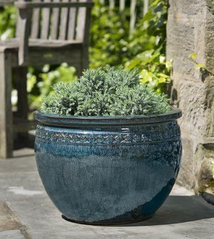 Campania International Low Borsa Planter Set of 4 in Indigo Rain The Garden Gates