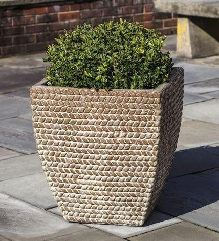 Image of Campania International Square Sisal Weave Planter Set of 3 Kendall and Everett