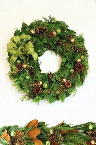 Golden Cedar Wreath