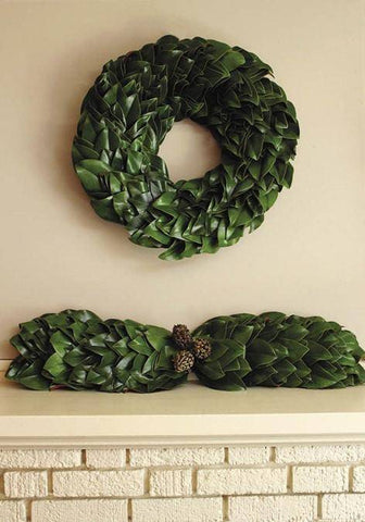 All Green Magnolia Wreath -Kendall & Everett Home