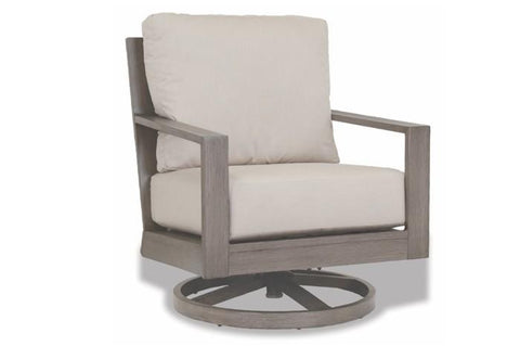 Sunset West Quick Ship Laguna Aluminum Swivel Club Rocker