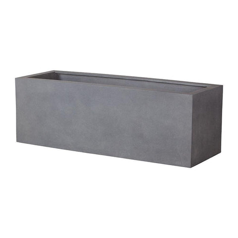 Campania International Big Box Planter in Lead Lite Kendall and Everett