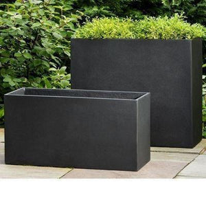 Campania International Modular Planter 6 in Onyx Black Lite Kendall and Everett