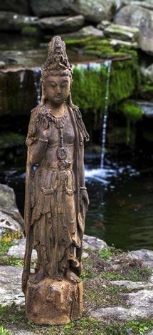 Image of Campania International Quan Yin Garden Statue Kendall and Everett