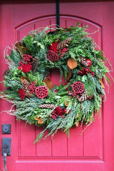 Pomegranates and Bunches Wreath