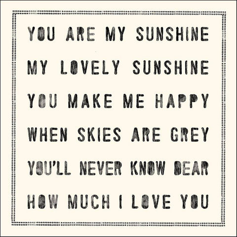 Sugarboo Designs You Are My Sunshine Notecard