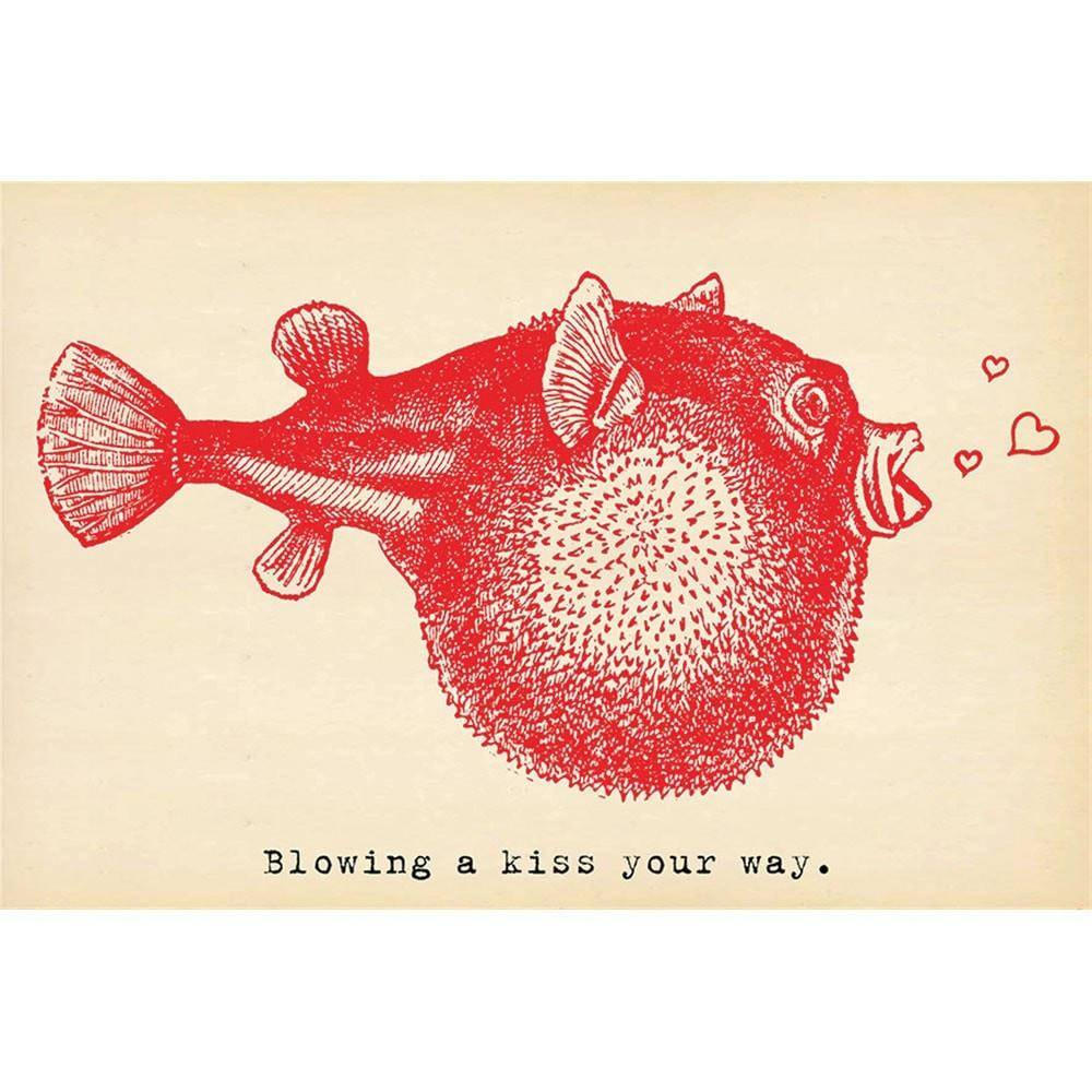 Sugarboo Designs Blowing a Kiss Your Way Postcard