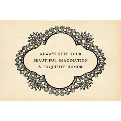 Sugarboo Designs Always Keep Your Beautiful Imagination Postcard