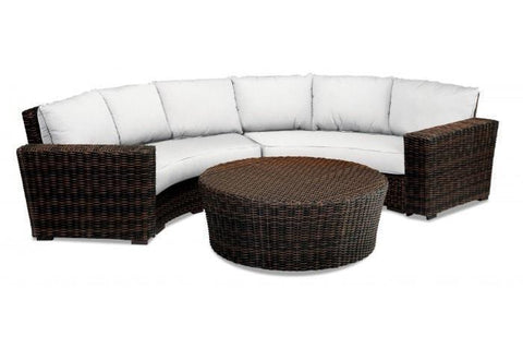 Image of Sunset West Montecito Outdoor Curved Loveseat Collection