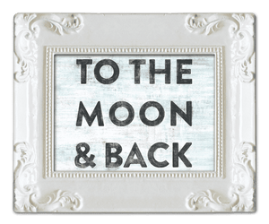 Sugarboo Designs To the Moon and Back with White Frame