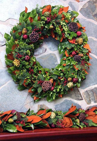 Colonial Magnolia Wreath