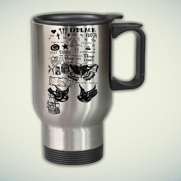 17 Black Collage Harry Style 14oz Stainless Steel Travel Mug