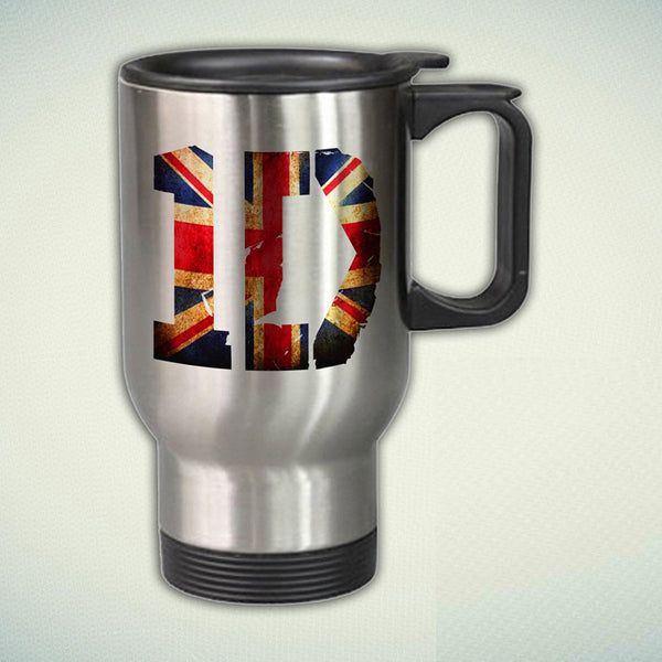 1D Logo, One Direction 14oz Stainless Steel Travel Mug