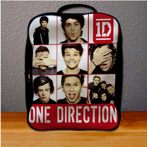 1D One Direction Funny Face Collage Backpack for Student