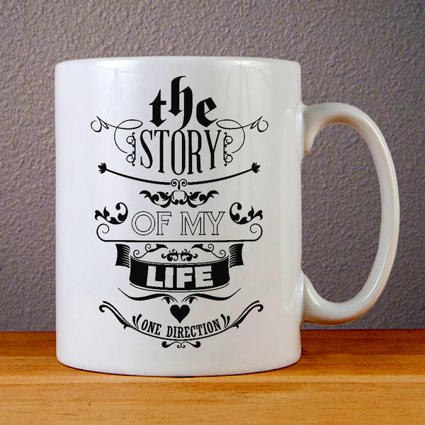 1D Story of My Life Lyric Ceramic Coffee Mugs