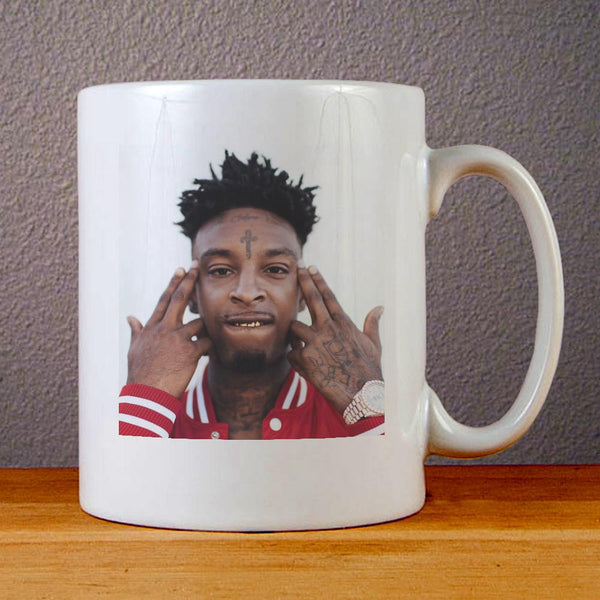 21 Savage Face Ceramic Coffee Mugs