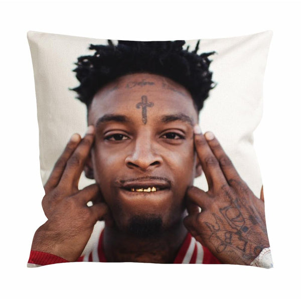 21 Savage Face Cushion Case / Pillow Case