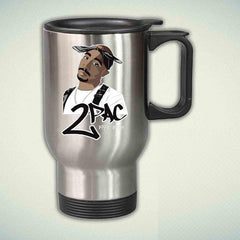 2pac tupac 14oz Stainless Steel Travel Mug