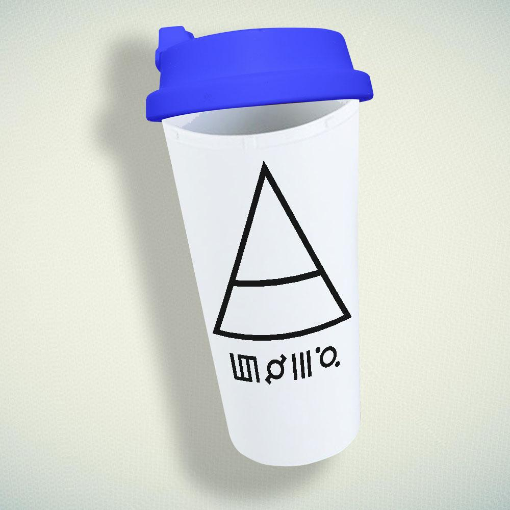 30 Seconds To Mars Triangle Double Wall Plastic Mug