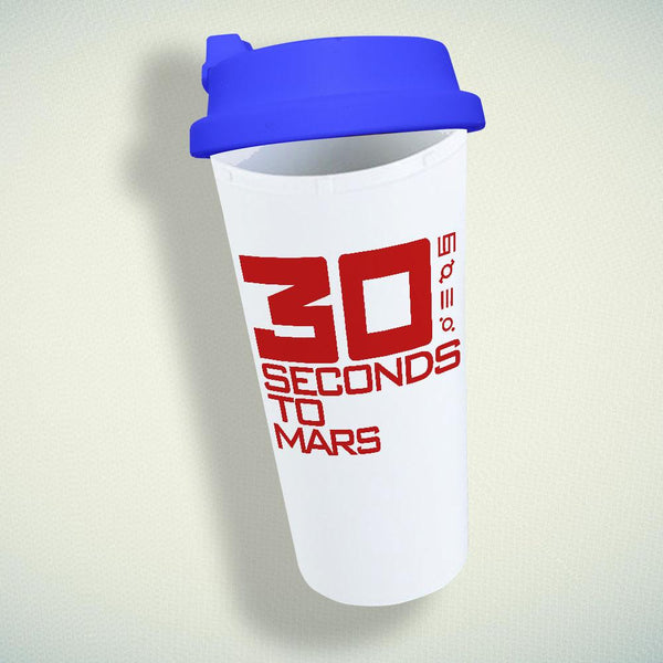 30 Seconds to Mars Double Wall Plastic Mug