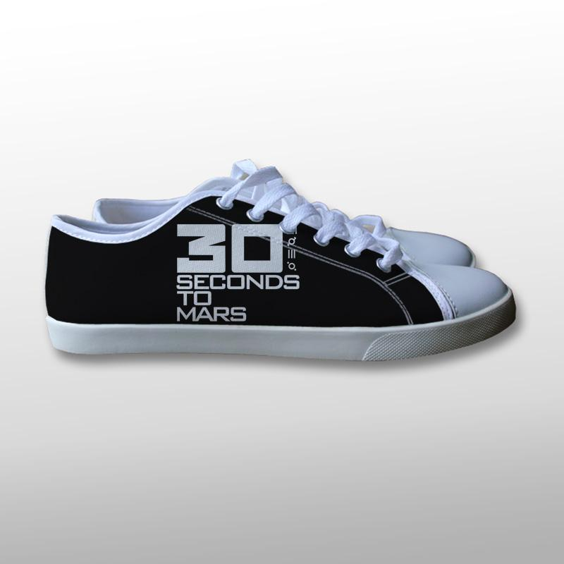 30 Seconds to Mars Logo Canvas Shoes
