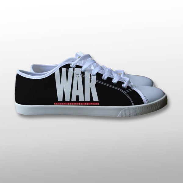 30 Seconds to Mars This is War Canvas Shoes