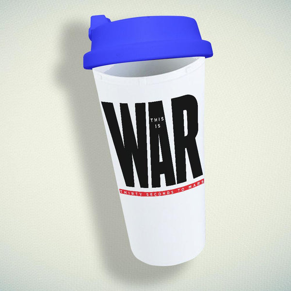 30 Seconds to Mars This is War Double Wall Plastic Mug