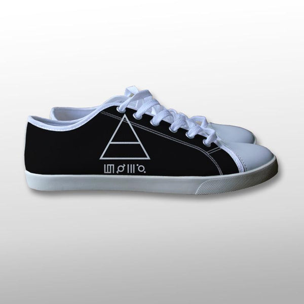 30 Seconds to Mars Triangle Canvas Shoes