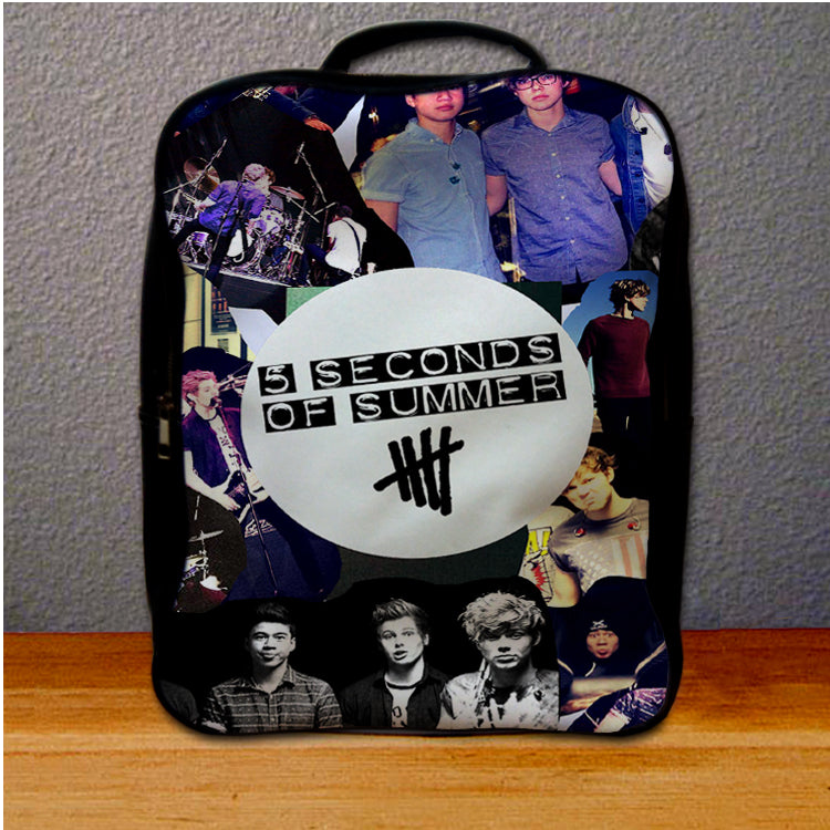 5SOS 5 Seconds Of Summer Logo Collage Backpack for Student