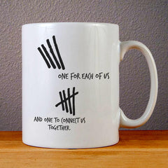 5SOS One for Each of Us Ceramic Coffee Mugs