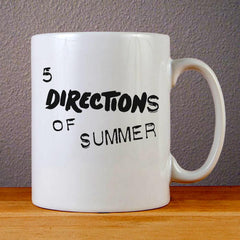 5 Directions of Summer Ceramic Coffee Mugs