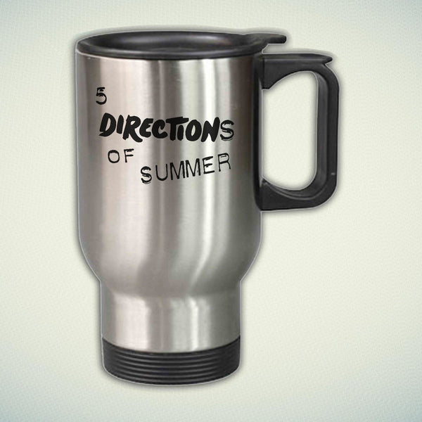 5 Directions of Summer 14oz Stainless Steel Travel Mug