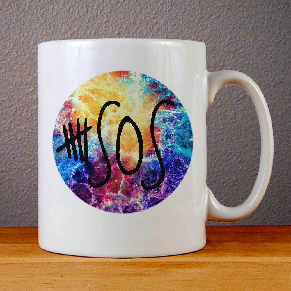 5 SOS Logo Galaxy Ceramic Coffee Mugs