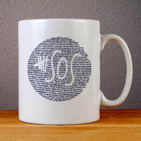 5 SOS Logo Quotes Ceramic Coffee Mugs