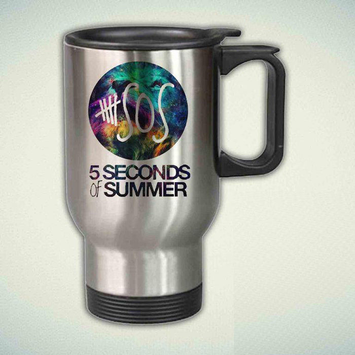 5 Second of Summer Galaxy Leon 14oz Stainless Steel Travel Mug